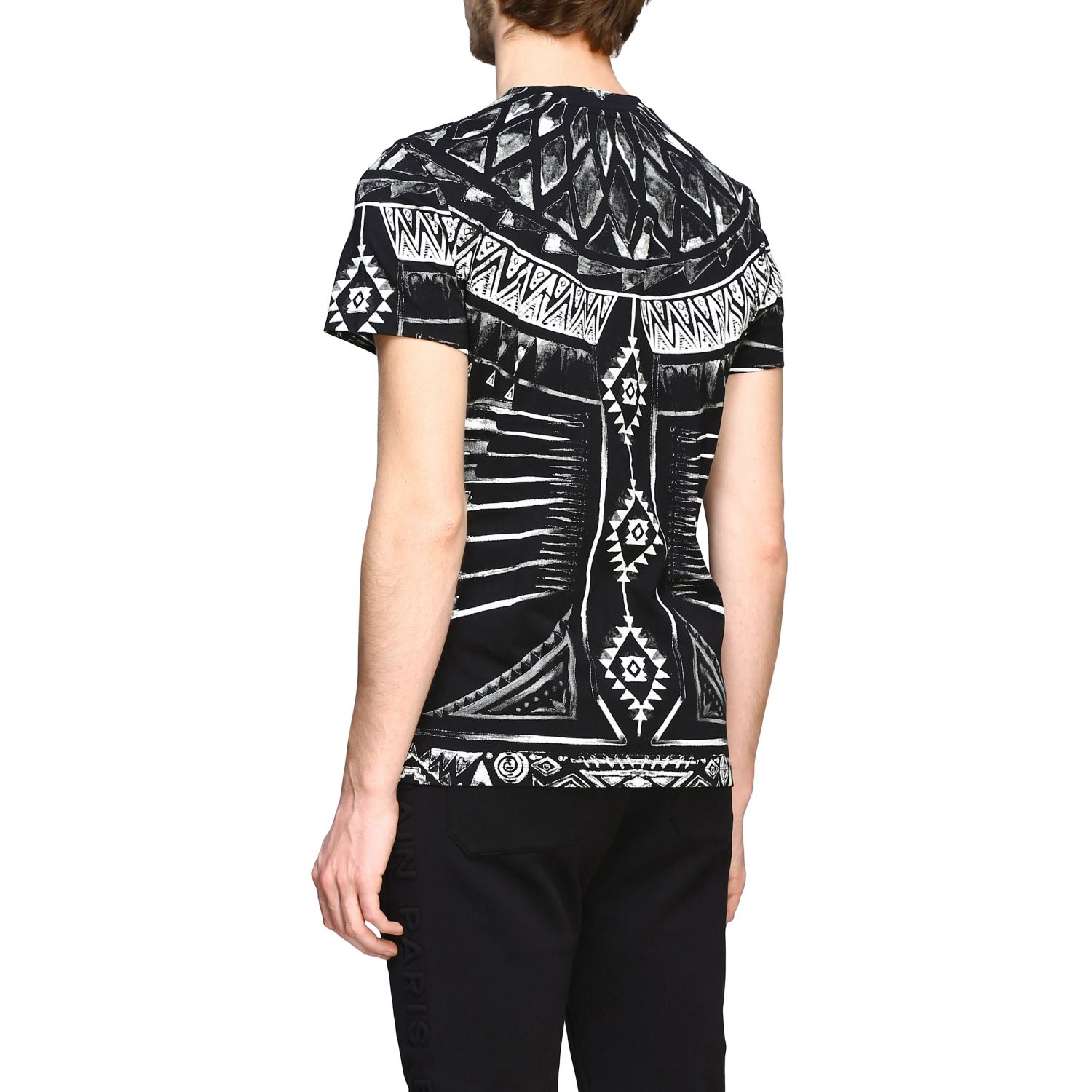 T-shirt Balmain: Balmain printed t-shirt with short sleeves black 3