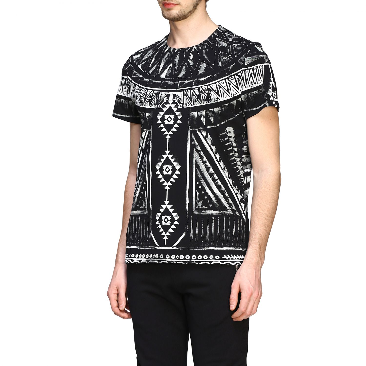 T-shirt Balmain: Balmain printed t-shirt with short sleeves black 4