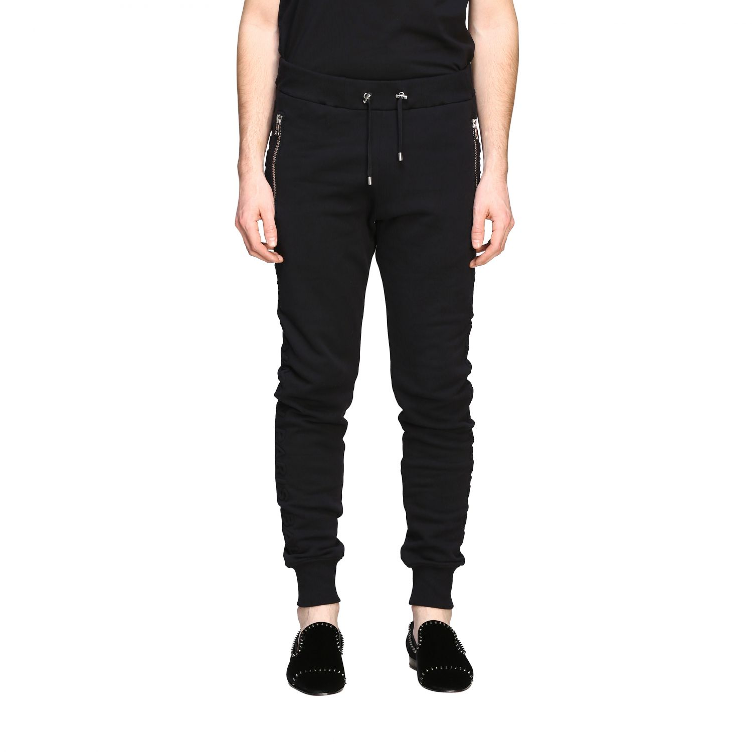 Pants Balmain: Balmain jogging trousers with zip black 1