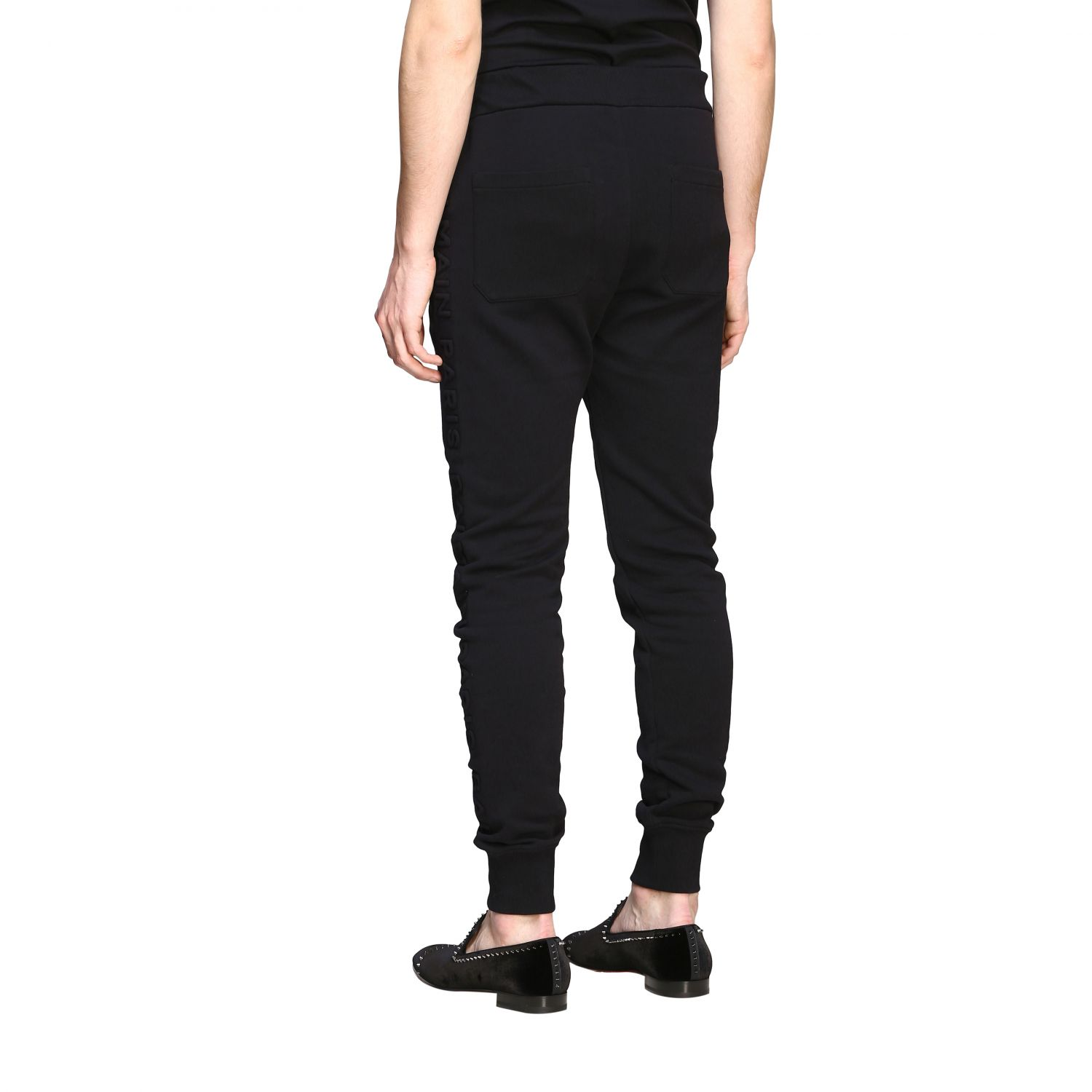 Pants Balmain: Balmain jogging trousers with zip black 3