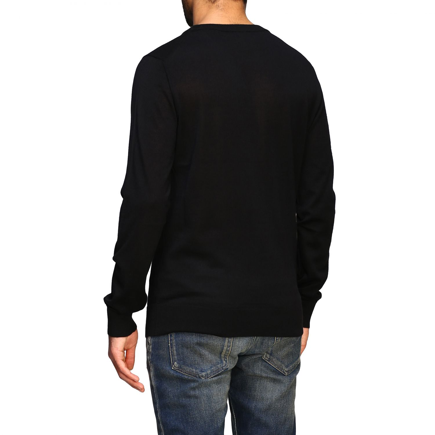 Sweater Balmain: Balmain cashmere crewneck sweater with logo black 3