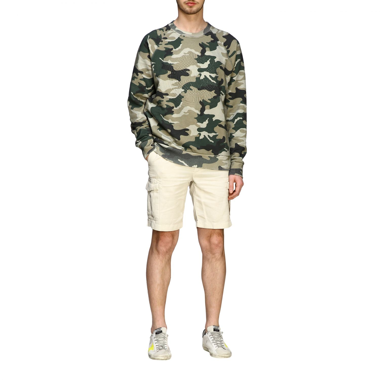Sweatshirt Balmain: Balmain camouflage sweatshirt with flocked logo and zip military 2