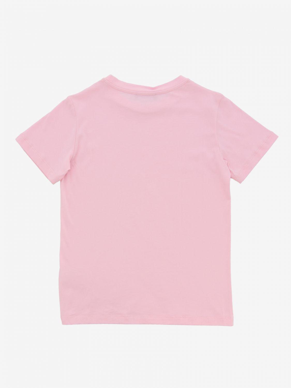 T-shirt Balmain: T-shirt Balmain a maniche corte con stampa logo rosa 2