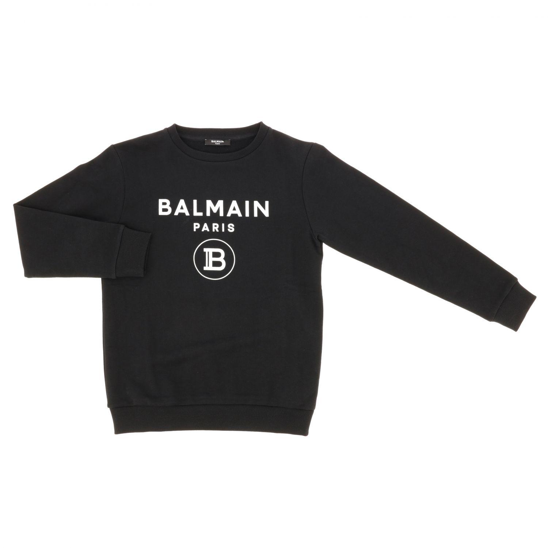 毛衣 Balmain: Balmain logo印花圆领卫衣 红色 1