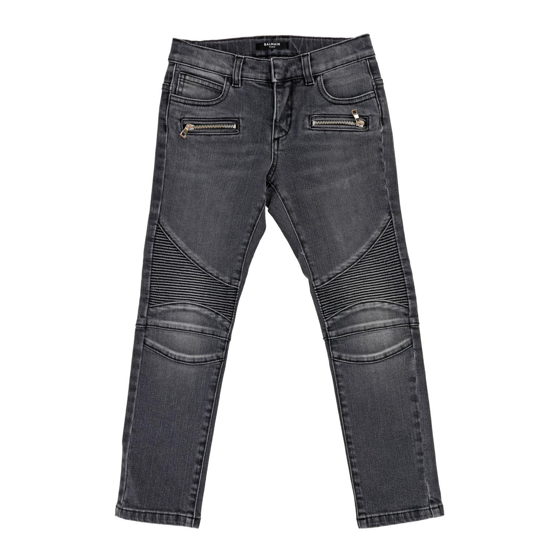 Jeans Balmain: Jeans Balmain in denim used nero 1