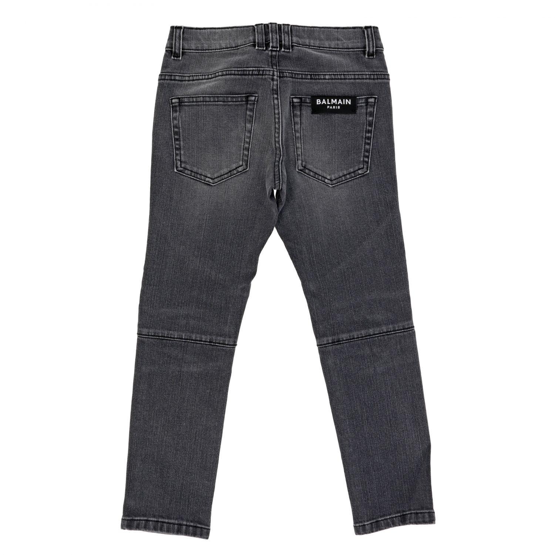 牛仔裤 Balmain: Balmain 做旧效果牛仔裤 黑色 2