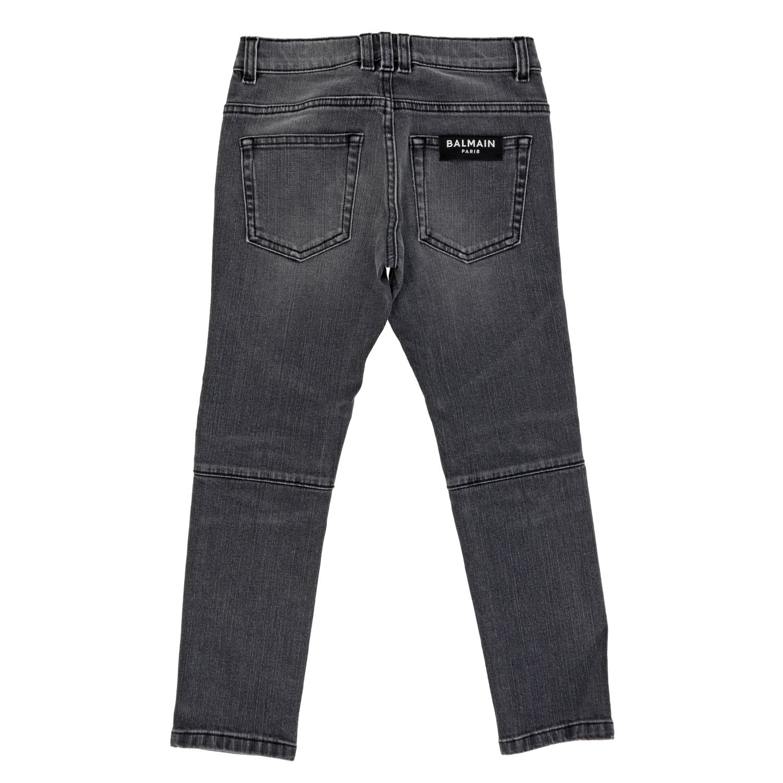 Jeans Balmain: Jeans Balmain in denim used nero 2