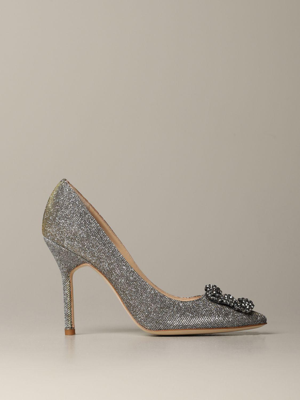 Shoes women Manolo Blahnik silver 1