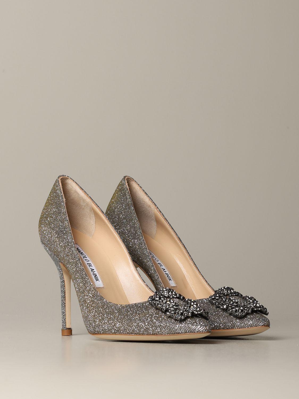 Shoes women Manolo Blahnik silver 2