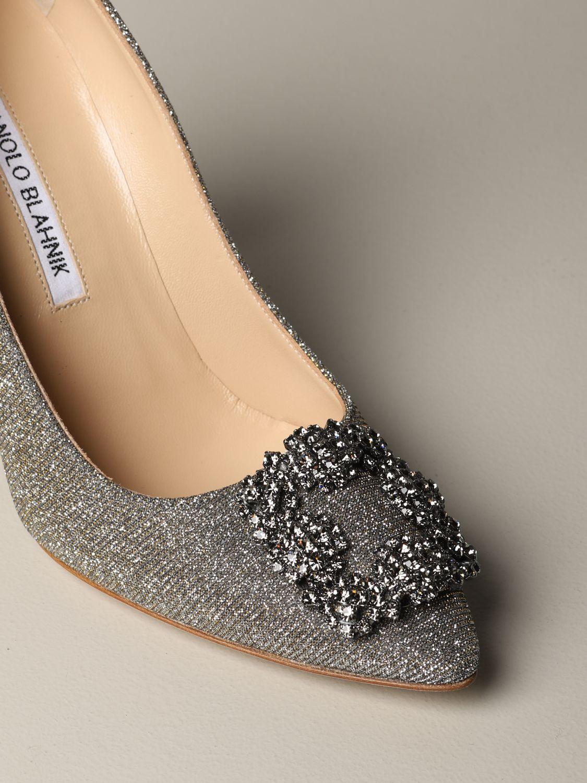 Shoes women Manolo Blahnik silver 3