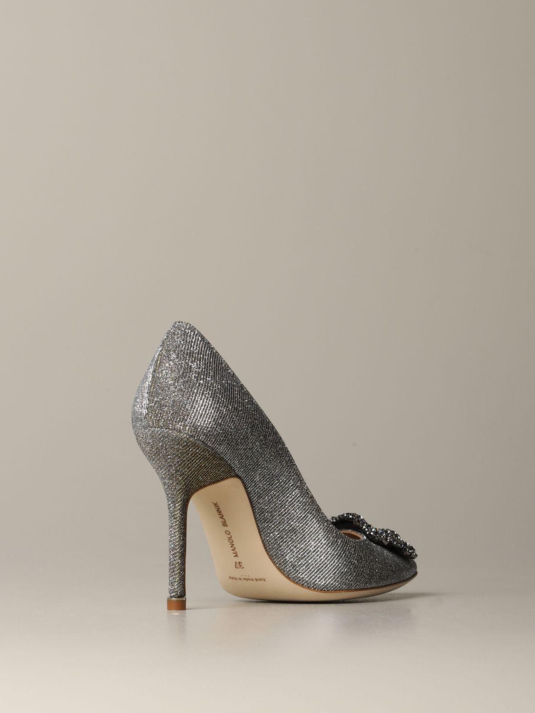 Shoes women Manolo Blahnik silver 4