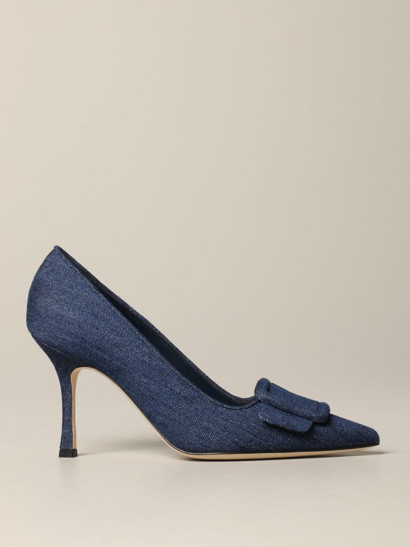鞋 女士 Manolo Blahnik 牛仔布 1