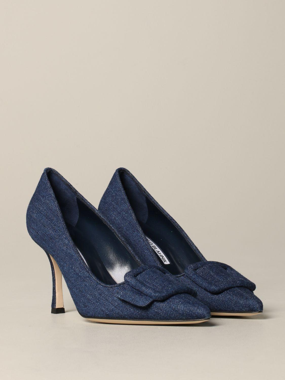 鞋 女士 Manolo Blahnik 牛仔布 2
