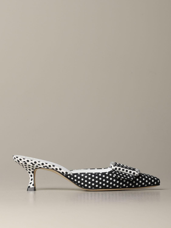 Туфли на каблуке Женское Manolo Blahnik черный 1