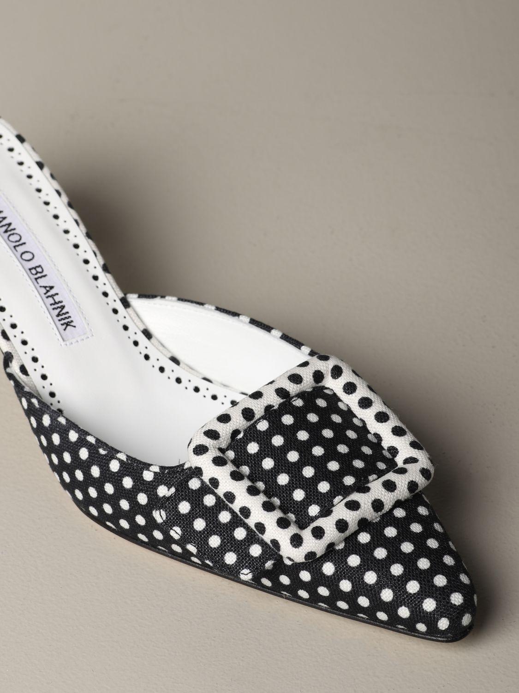 Туфли на каблуке Женское Manolo Blahnik черный 3
