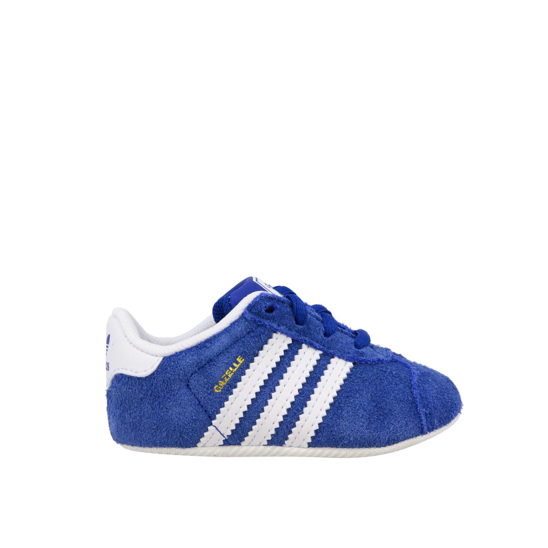 Baskets Gazelle Crib Adidas Originals en daim et cuir bleu royal 1