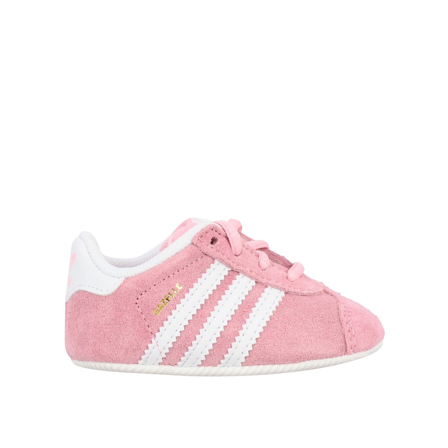 Baskets Gazelle Crib Adidas Originals en daim et cuir rose 1