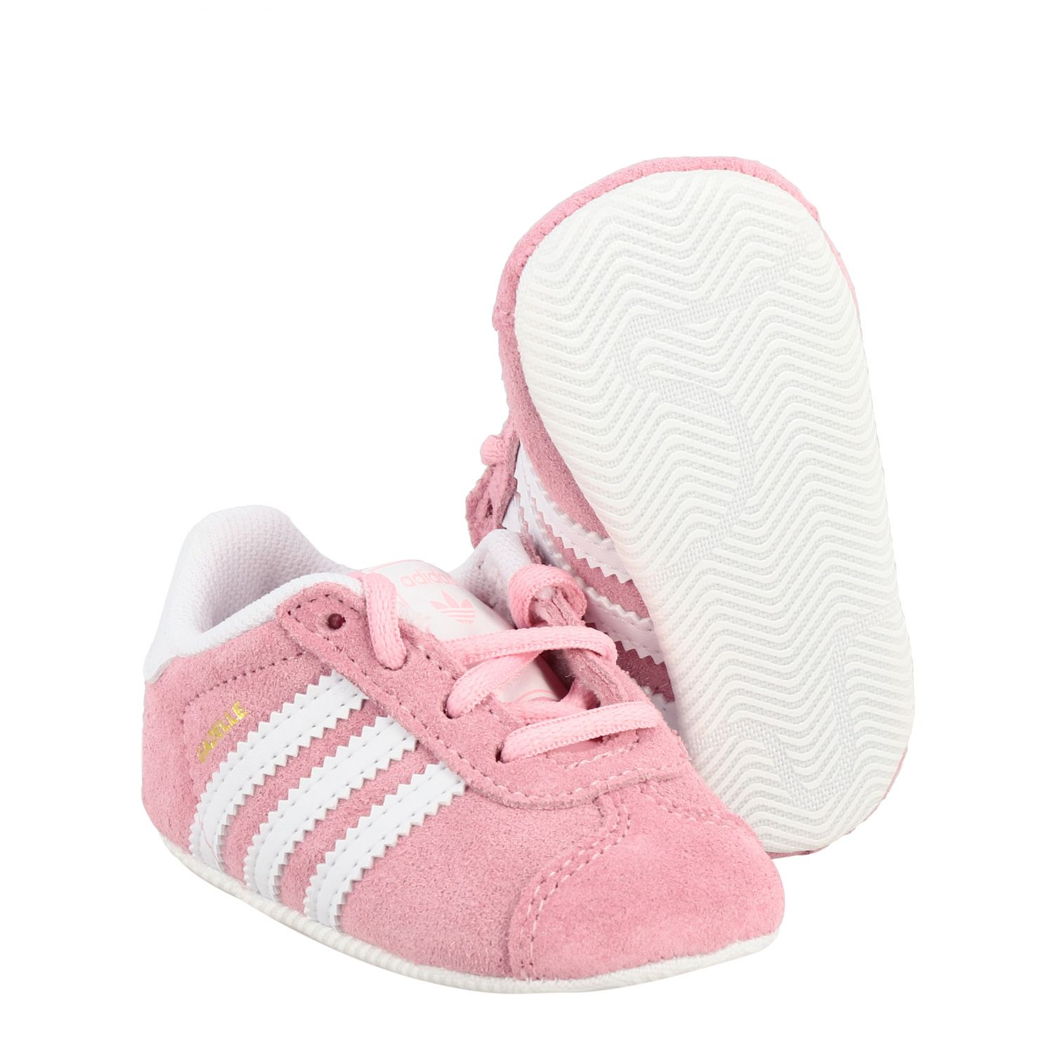 Baskets Gazelle Crib Adidas Originals en daim et cuir rose 2