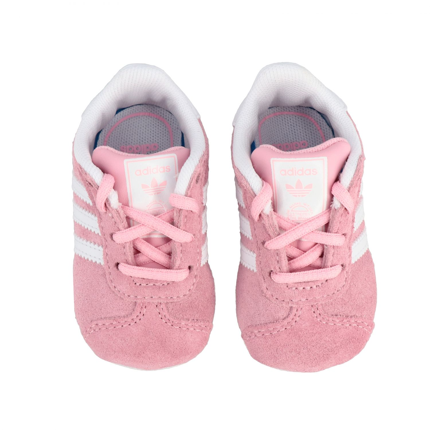 Baskets Gazelle Crib Adidas Originals en daim et cuir rose 3