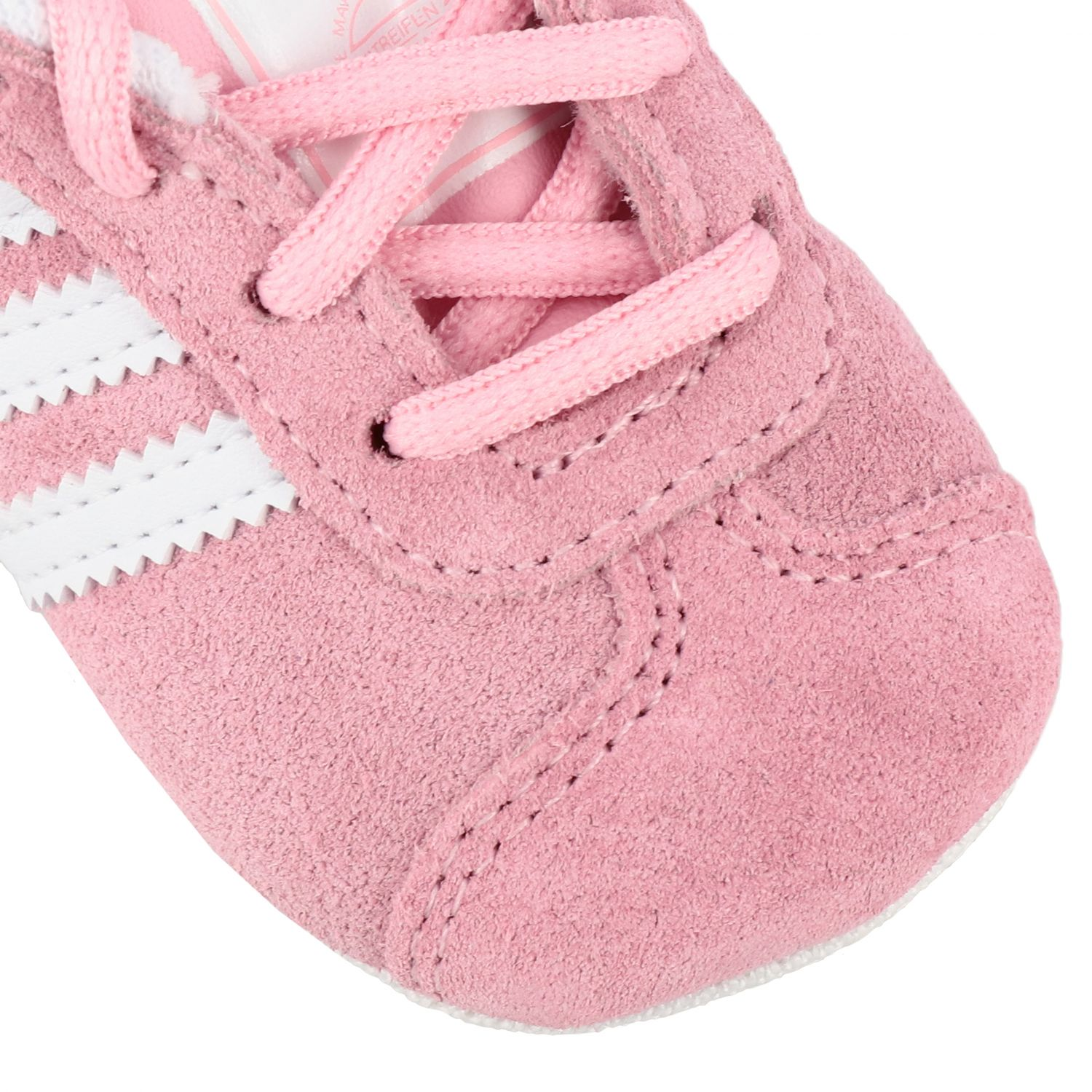 Baskets Gazelle Crib Adidas Originals en daim et cuir rose 4