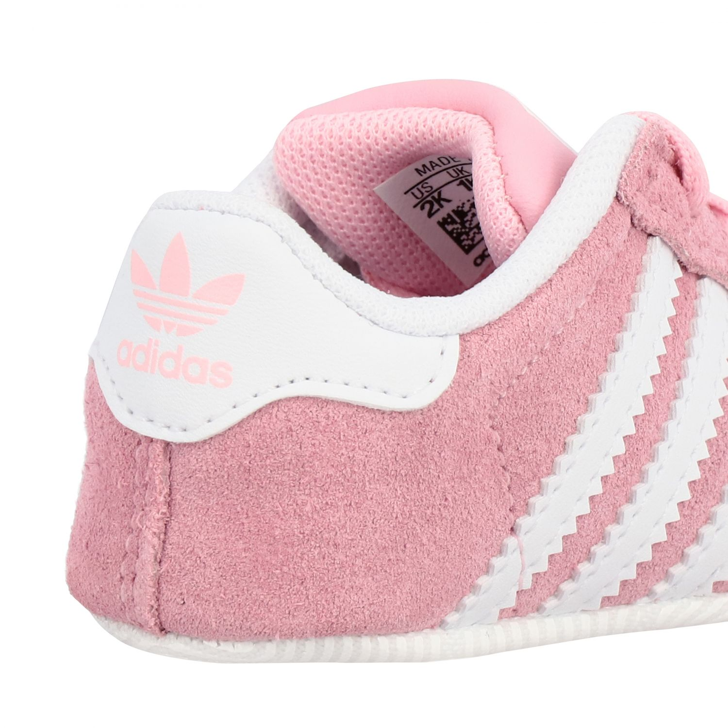 Baskets Gazelle Crib Adidas Originals en daim et cuir rose 5