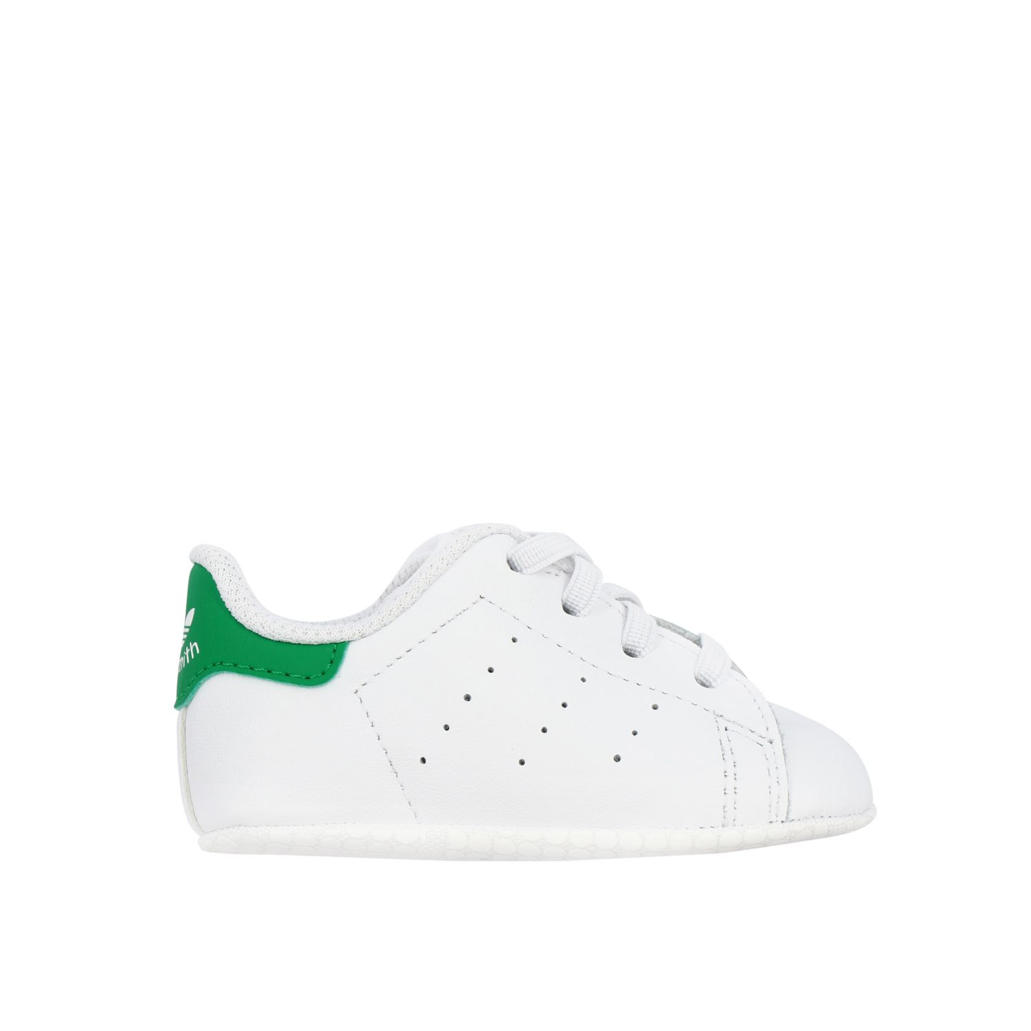 Baskets en cuir Stan Smith Crib Adidas Originals - blanc 1