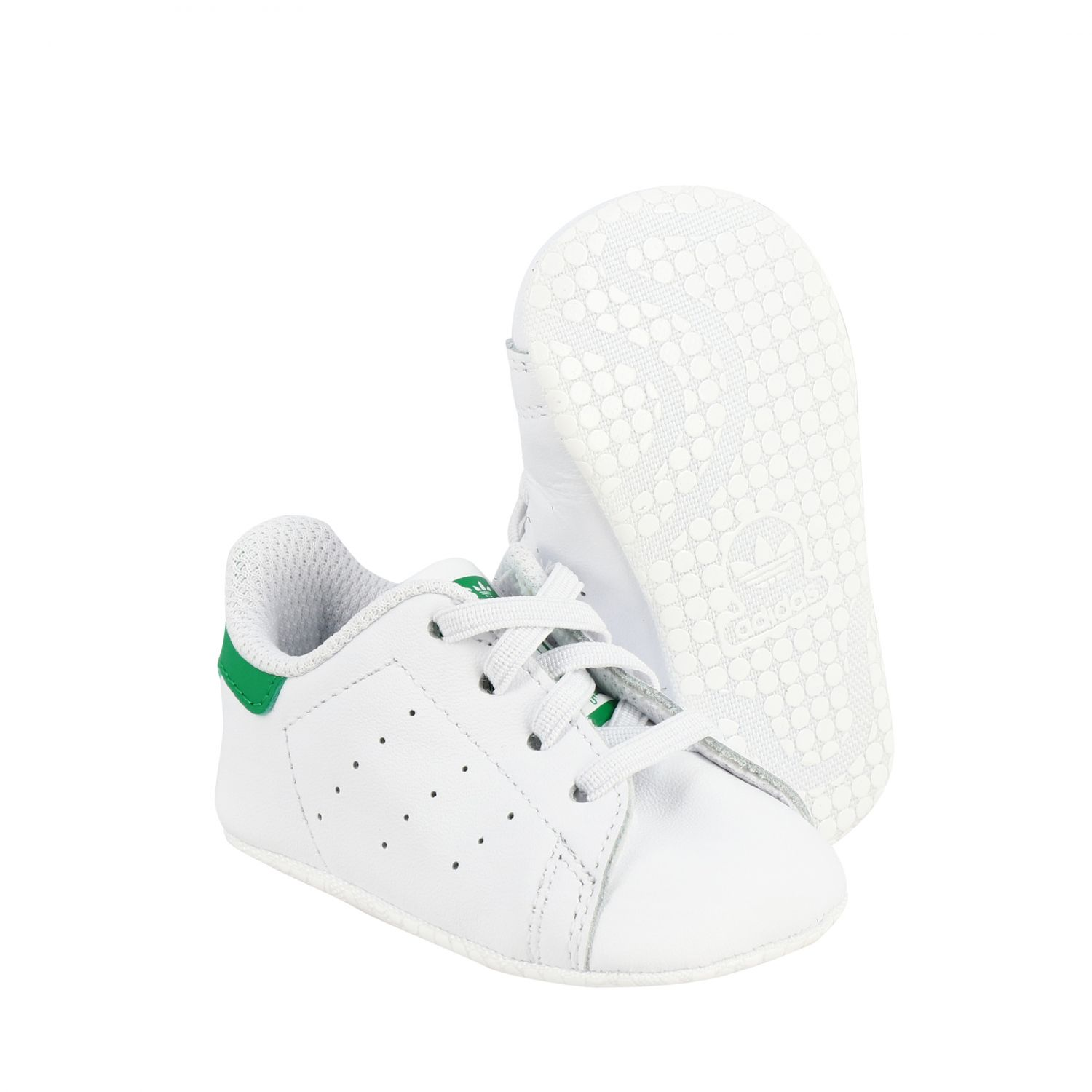 Baskets en cuir Stan Smith Crib Adidas Originals - blanc 2