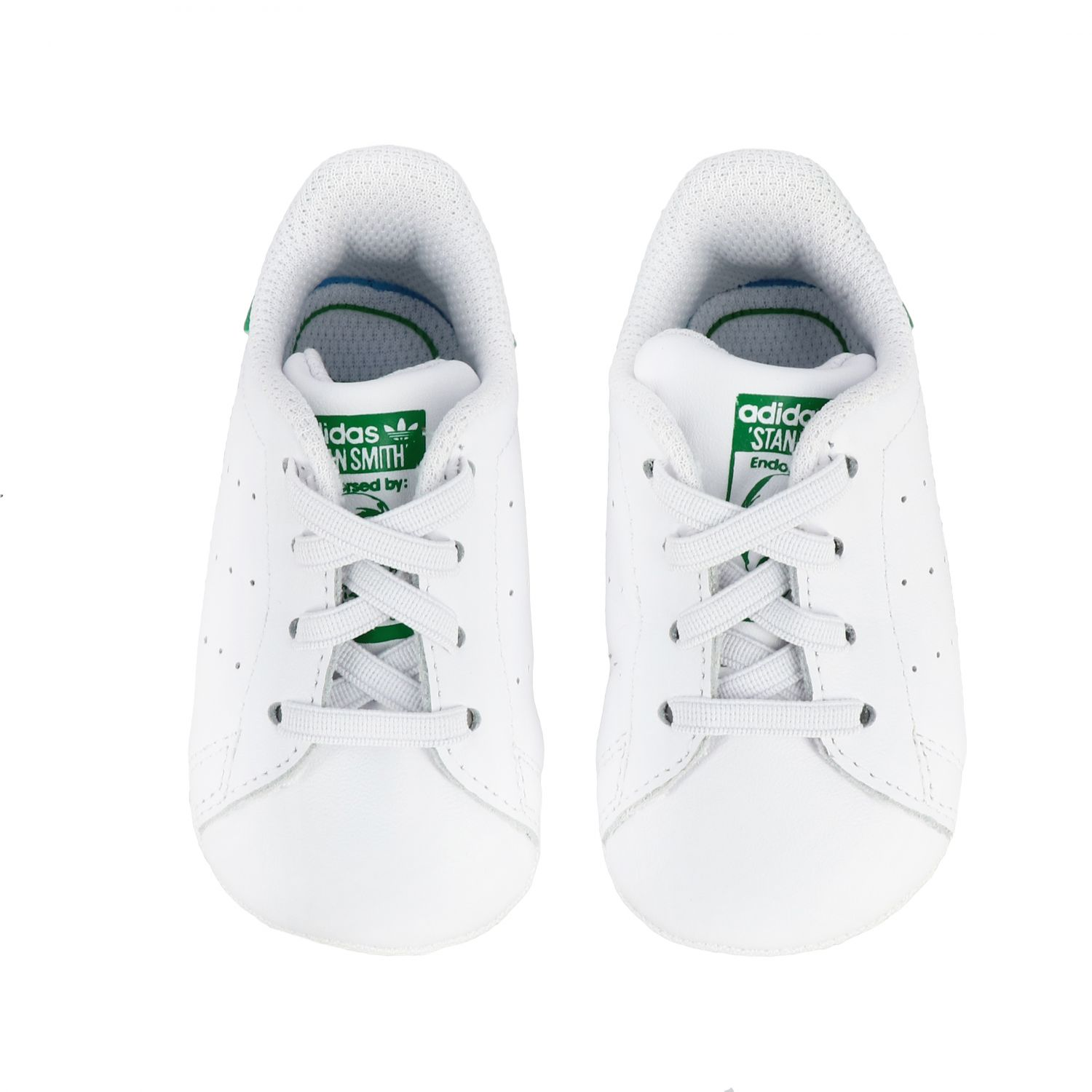 Baskets en cuir Stan Smith Crib Adidas Originals - blanc 3