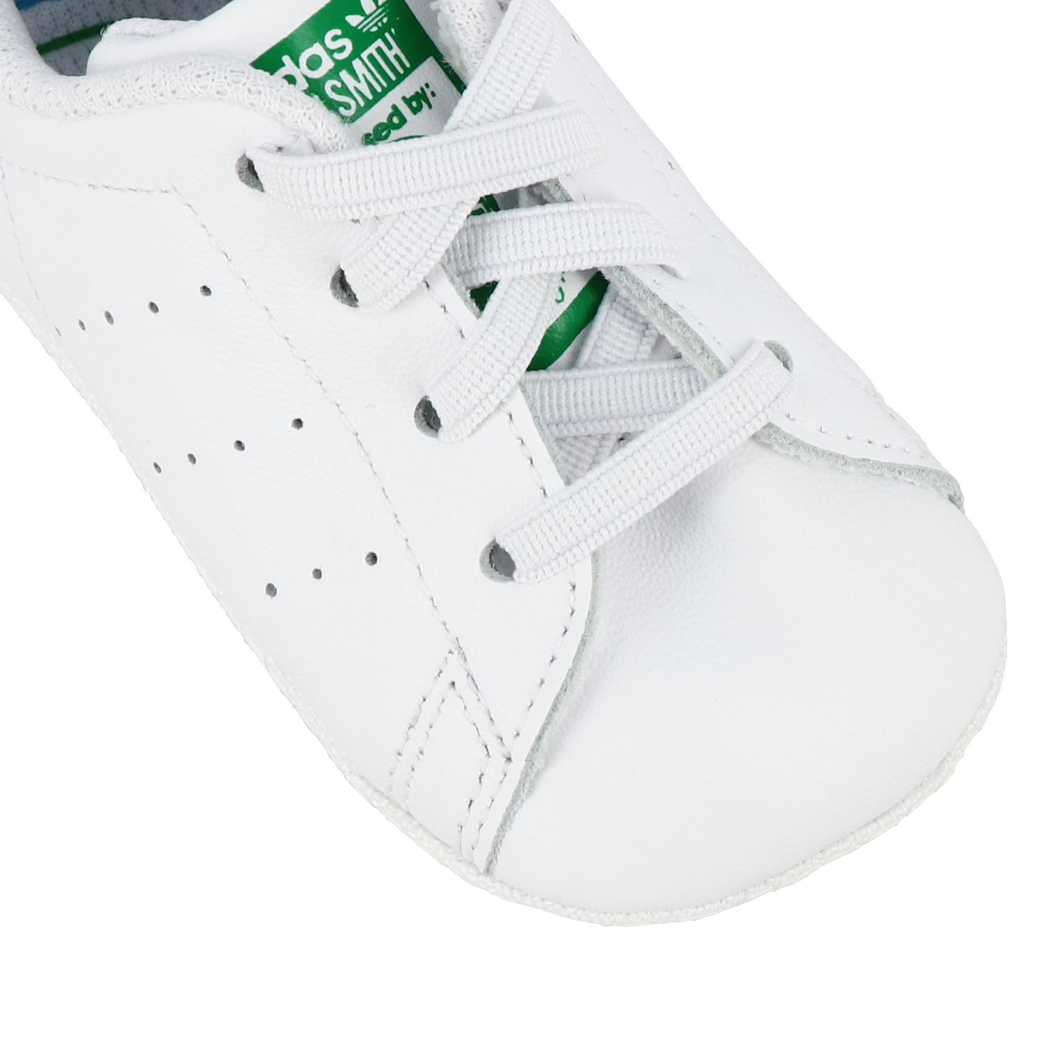 Baskets en cuir Stan Smith Crib Adidas Originals - blanc 4