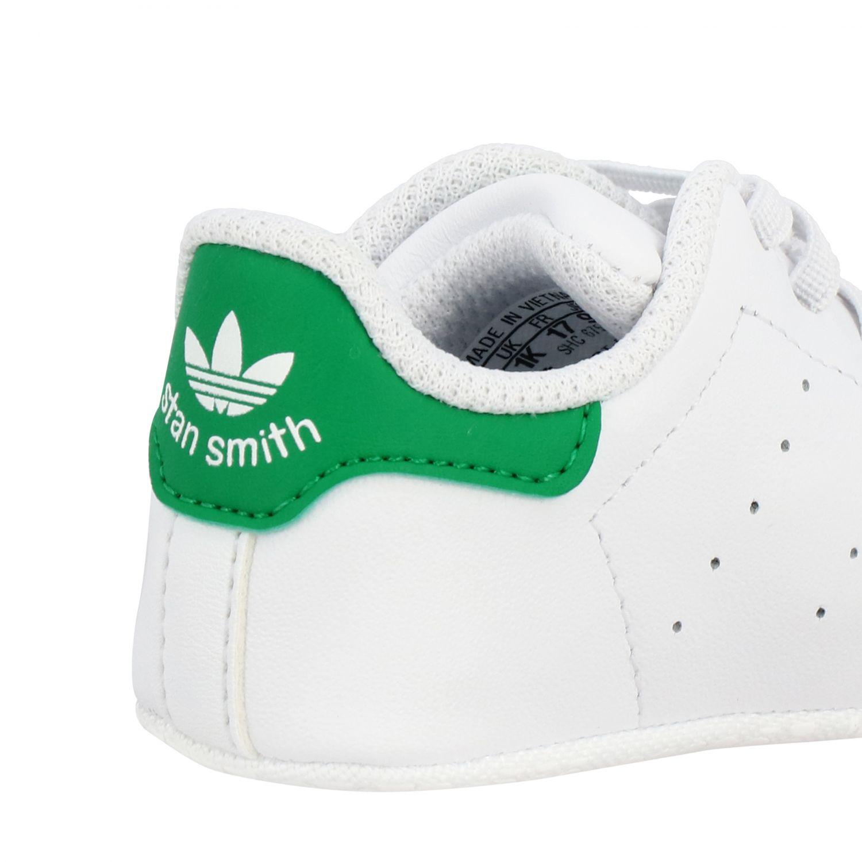 鞋履 Adidas Originals: Adidas Originals Stan smith Crib 真皮运动鞋 白色 5