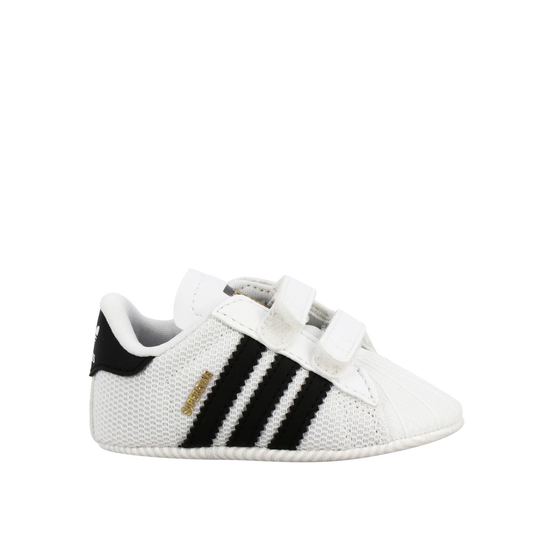Обувь Adidas Originals: Кроссовки Superstar Crib из кожи Детское Adidas Originals белый 1