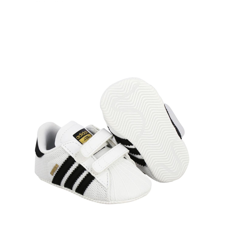 Обувь Adidas Originals: Кроссовки Superstar Crib из кожи Детское Adidas Originals белый 2