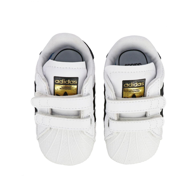 Обувь Adidas Originals: Кроссовки Superstar Crib из кожи Детское Adidas Originals белый 3