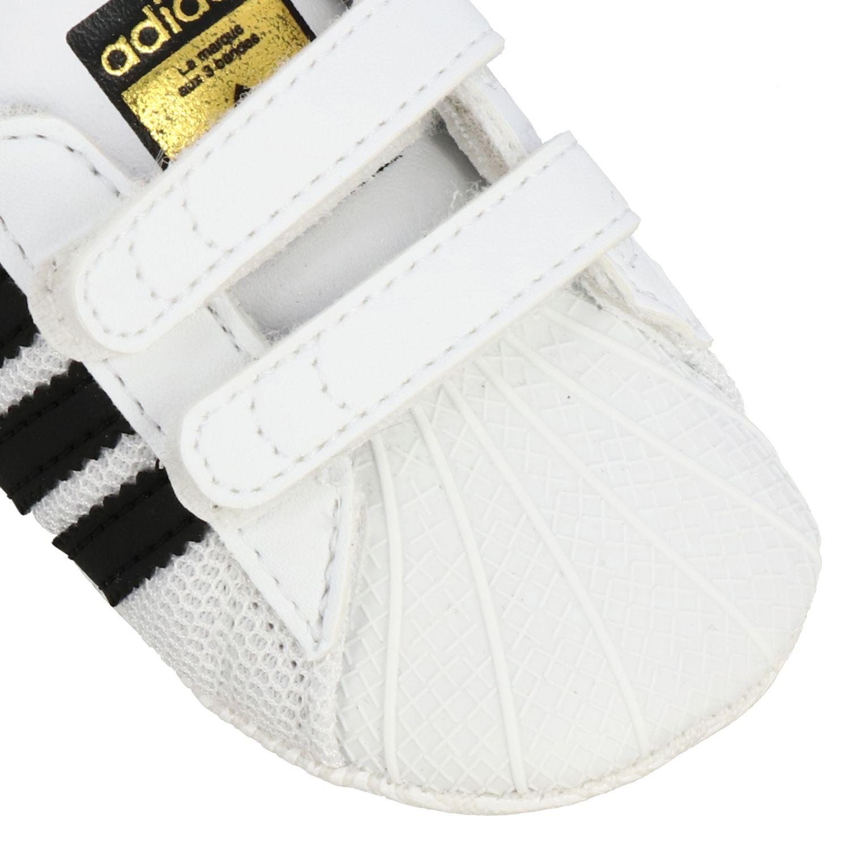 Обувь Adidas Originals: Кроссовки Superstar Crib из кожи Детское Adidas Originals белый 4