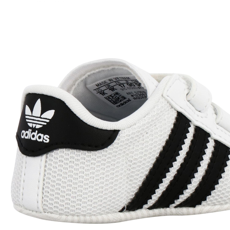 Обувь Adidas Originals: Кроссовки Superstar Crib из кожи Детское Adidas Originals белый 5