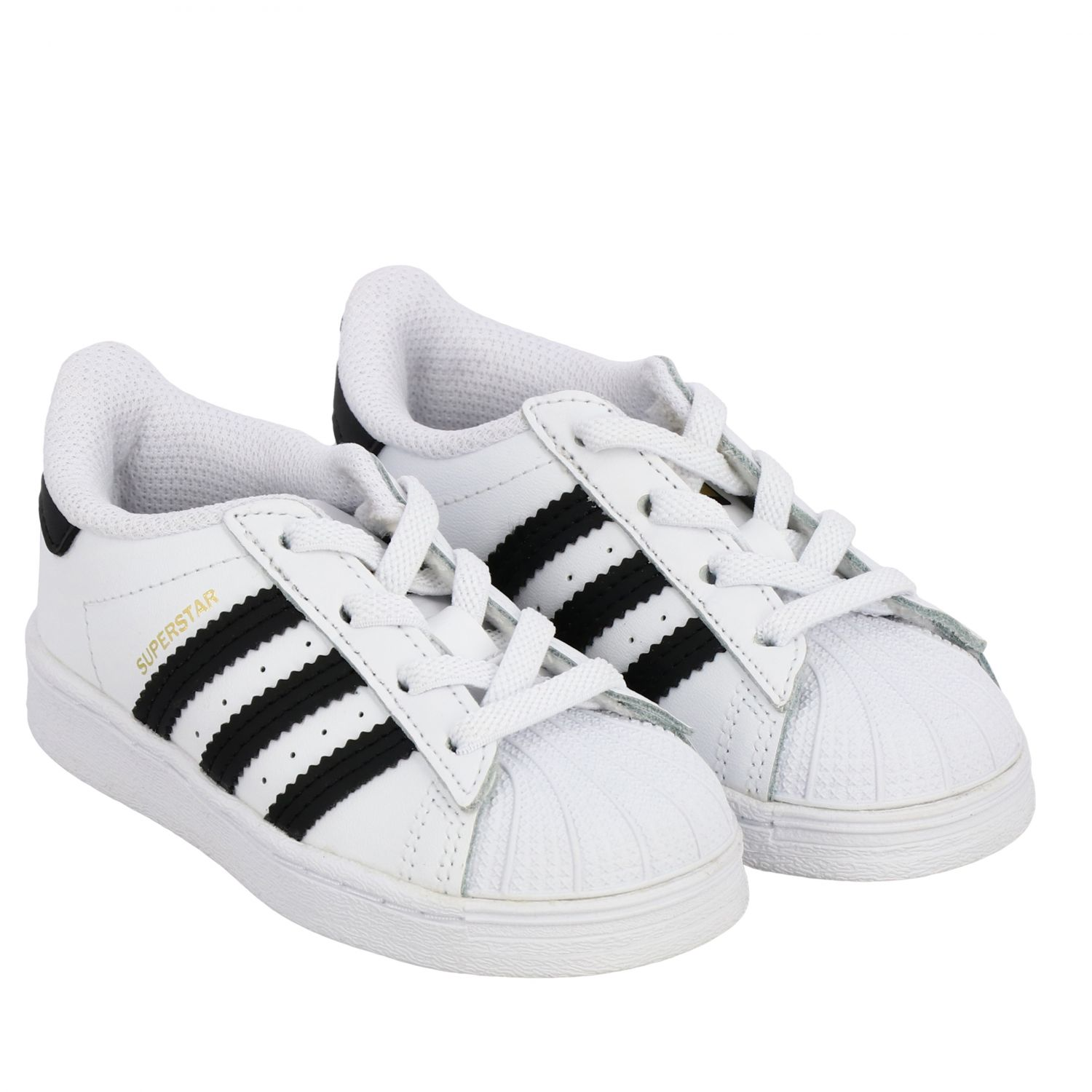 Baskets en cuir Adidas Originals Superstar blanc 2