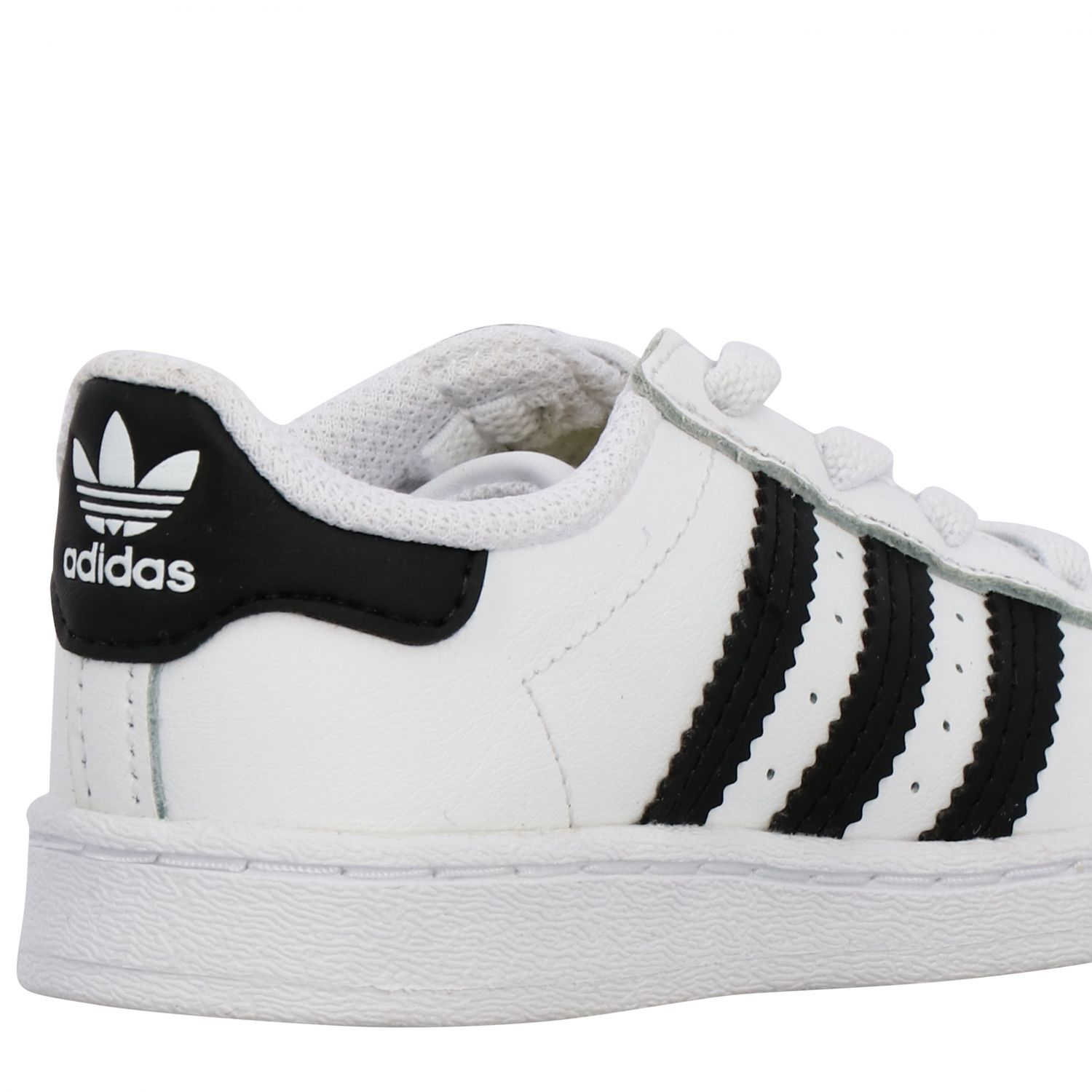 Baskets en cuir Adidas Originals Superstar blanc 5