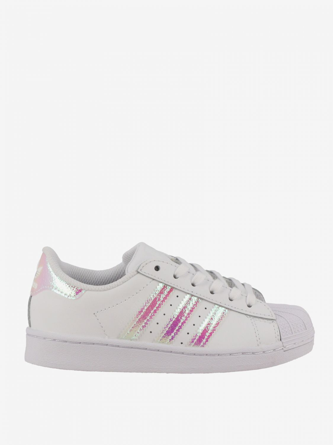 鞋履 Adidas Originals: Adidas Originals Superstar logo真皮运动鞋 白色 1