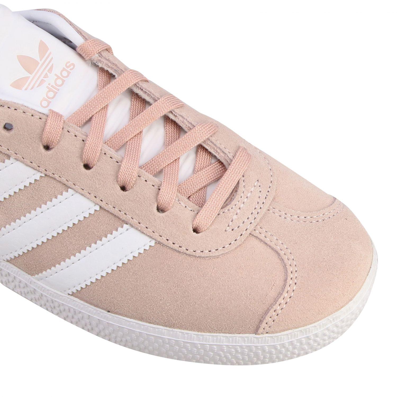 Baskets Gazelle J Adidas Originals en daim synthétique et cuir rose 4