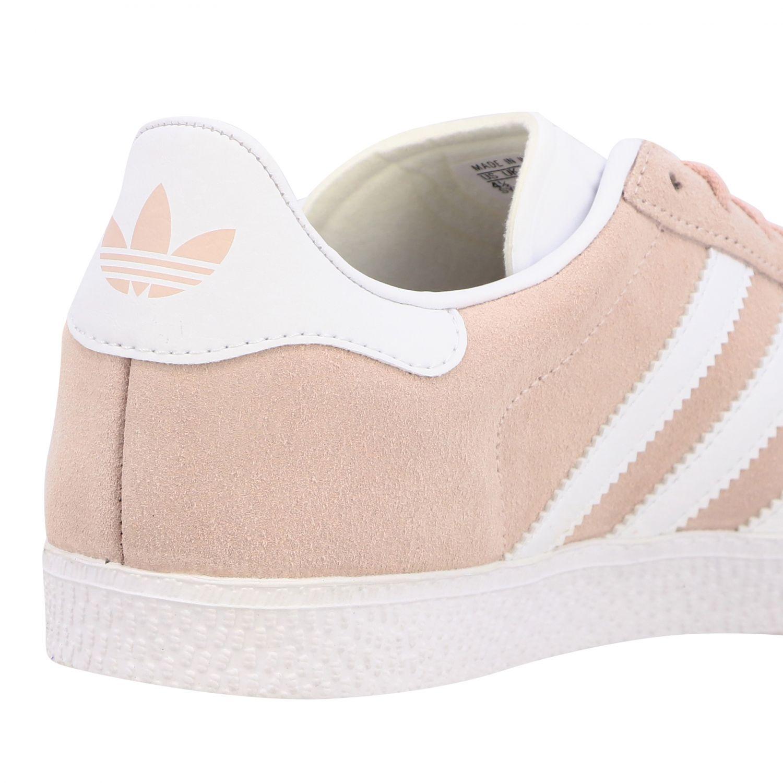 鞋履 Adidas Originals: Adidas Originals Gazelle J 绒面革真皮运动鞋 粉色 5
