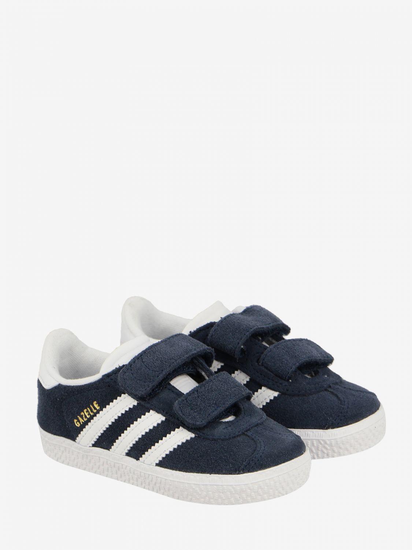 Scarpe Adidas Originals: Sneakers Gazelle Adidas Originals in camoscio con logo blue 2