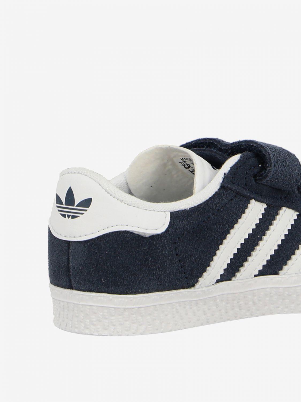 Scarpe Adidas Originals: Sneakers Gazelle Adidas Originals in camoscio con logo blue 3