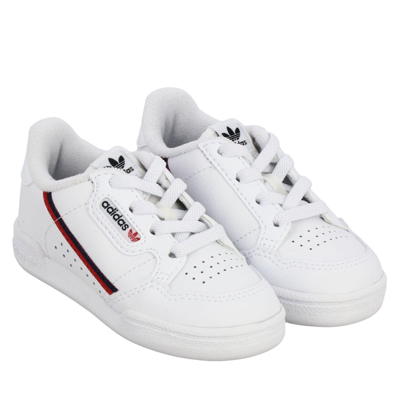 Обувь Adidas Originals: Кроссовки Continental 80 из кожи Детское Adidas Originals белый 2