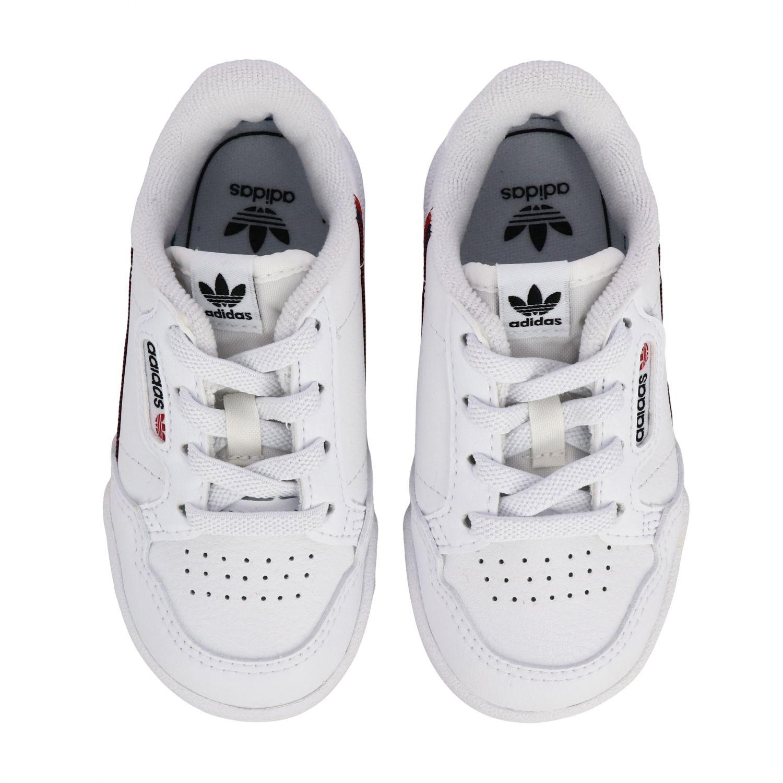 Обувь Adidas Originals: Кроссовки Continental 80 из кожи Детское Adidas Originals белый 3