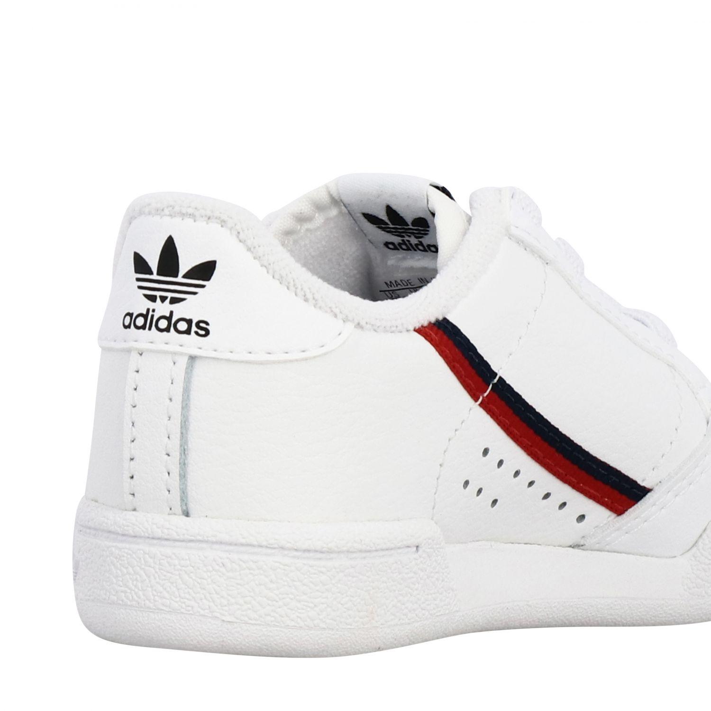 Обувь Adidas Originals: Кроссовки Continental 80 из кожи Детское Adidas Originals белый 5
