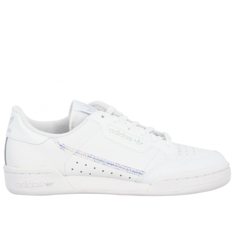 Scarpe Adidas Originals: Sneakers Continental 80 Adidas Originals in pelle bianco 1