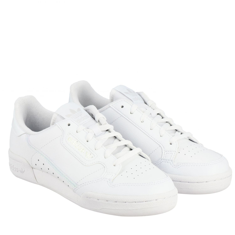 鞋履 Adidas Originals: Adidas Originals Continental 80 真皮运动鞋 白色 2