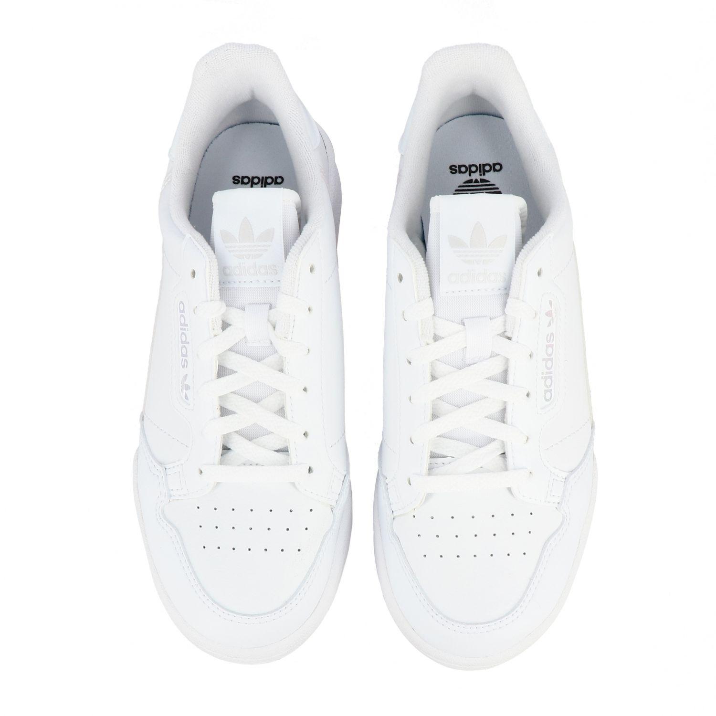 鞋履 Adidas Originals: Adidas Originals Continental 80 真皮运动鞋 白色 3