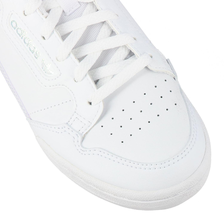 鞋履 Adidas Originals: Adidas Originals Continental 80 真皮运动鞋 白色 4