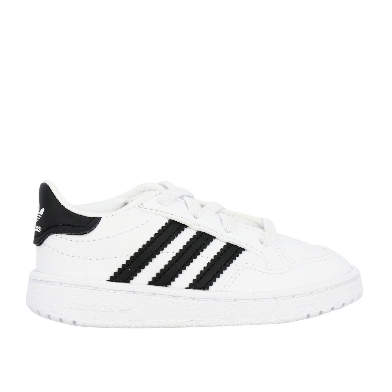 Обувь Adidas Originals: Кроссовка Tim court из кожи Детское Adidas Originals белый 1